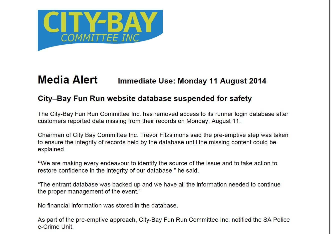 city bay media alert - it