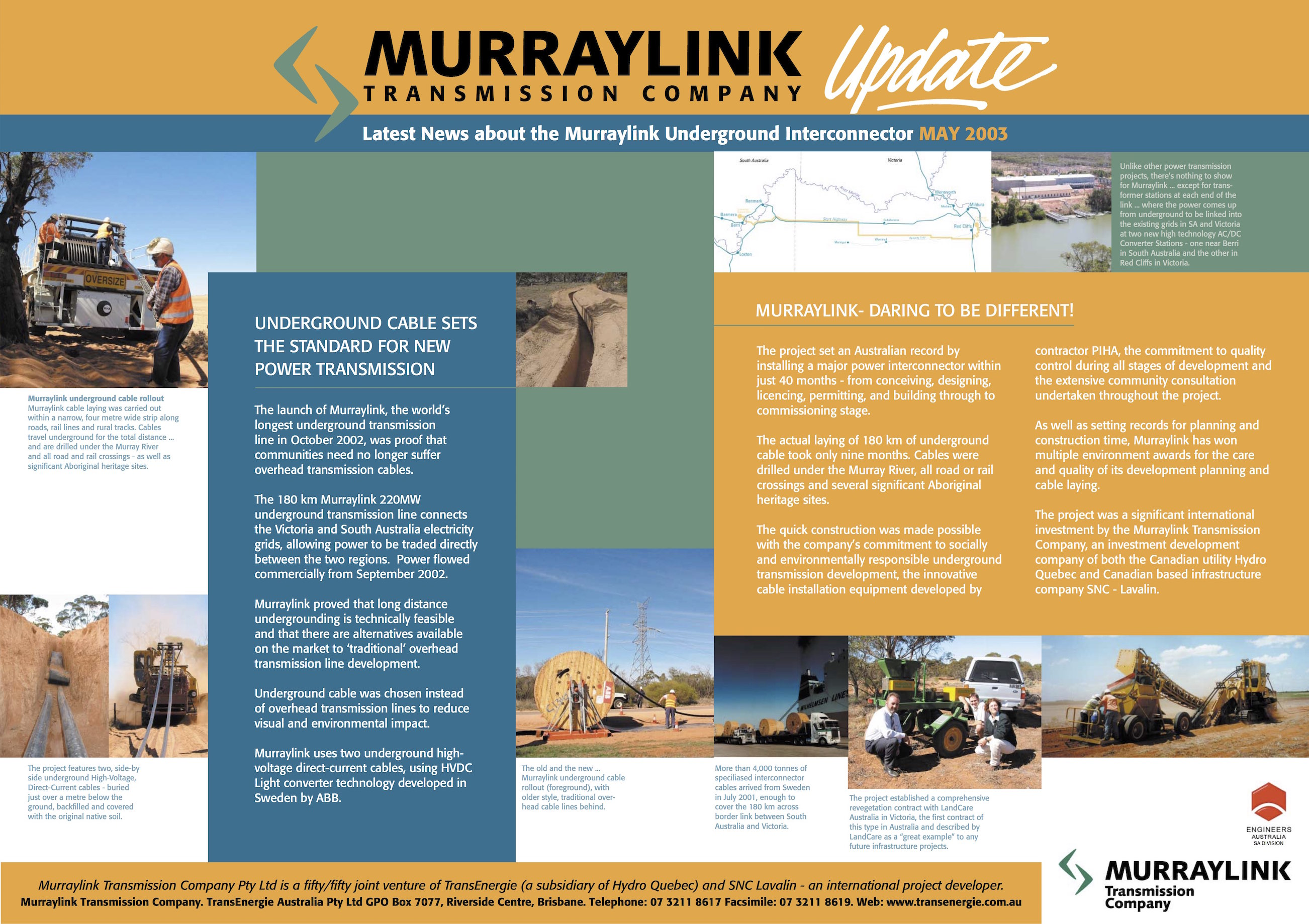 Murraylink Poster June 2003